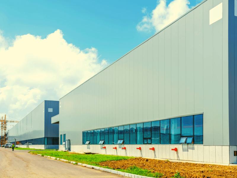 warehouse in summer